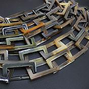 Материалы для творчества handmade. Livemaster - original item Rectangle Chain Buffalo Horn Zebu 46 and 37 cm to choose from. Handmade.