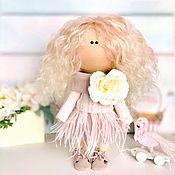 Мягкие игрушки ручной работы. Ярмарка Мастеров - ручная работа Текстильная интерьерная кукла с фламинго. Handmade.