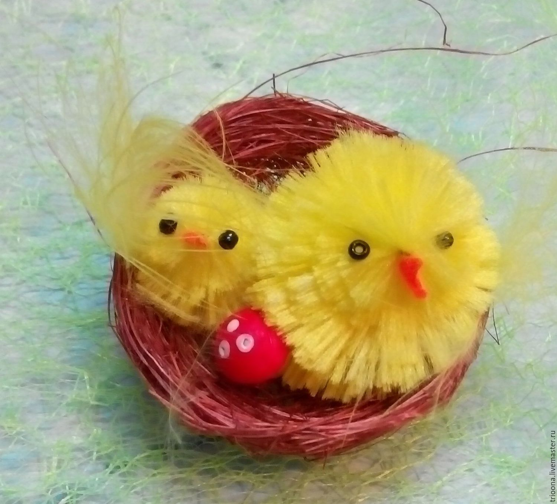 Цыплята в гнезде с мухоморами, Элементы декора, Москва, Фото №1