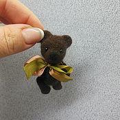Куклы и игрушки ручной работы. Ярмарка Мастеров - ручная работа Мини Мишка 7см. Handmade.