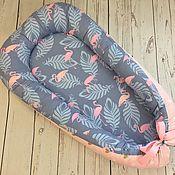 Кокон-гнездо ручной работы. Ярмарка Мастеров - ручная работа Кокон для новорожденного, гнездышко. Handmade.