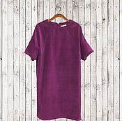 """Одежда ручной работы. Ярмарка Мастеров - ручная работа Платье """"кокон"""" фиолетовое бархат платье по Вашим меркам. Handmade."""