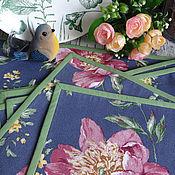 Для дома и интерьера handmade. Livemaster - original item Table textiles set with Garden peony.. Handmade.