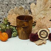 Посуда handmade. Livemaster - original item A glass of wood of Fir 10,5#19. Handmade.