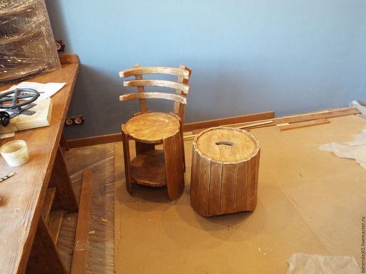 Мебель ручной работы. Ярмарка Мастеров - ручная работа. Купить Стулья,табуретки. Handmade. Коричневый, стиль лофт