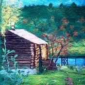 """Картины и панно ручной работы. Ярмарка Мастеров - ручная работа Картина """"Вот моя деревня..."""". Handmade."""