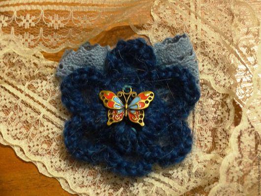 Кофты и свитера ручной работы. Заказать Кардиган с брошью вязаный,тёплый. Вязаные штучки от Ольги. Ярмарка Мастеров. Ручное вязание