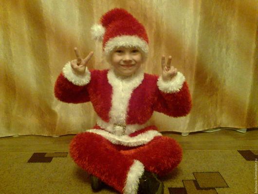 """Детские карнавальные костюмы ручной работы. Ярмарка Мастеров - ручная работа. Купить Карнавальный костюм """"Санта"""". Handmade. Ярко-красный"""