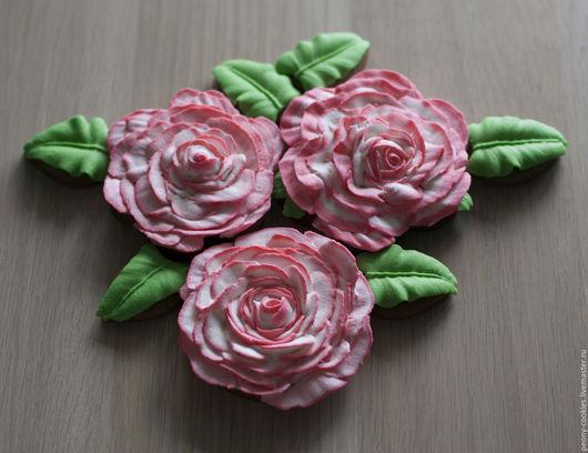 Кулинарные сувениры ручной работы. Ярмарка Мастеров - ручная работа. Купить Имбирные пряники Розы. Handmade. Комбинированный, пряничный букет