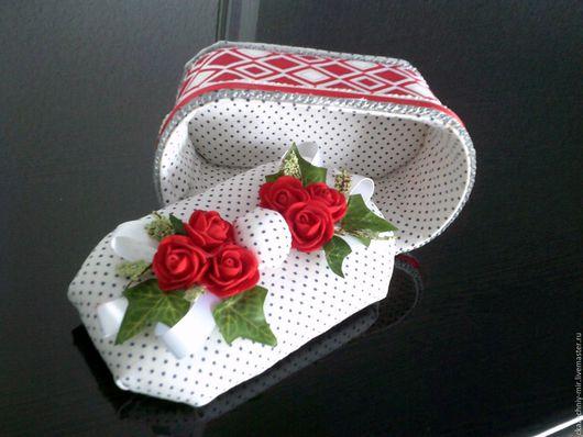 """Подарки для влюбленных ручной работы. Ярмарка Мастеров - ручная работа. Купить Шкатулка """" Красное-белое"""". Handmade. Ярко-красный"""