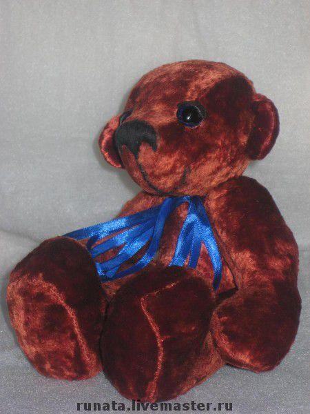 Мишки Тедди ручной работы. Ярмарка Мастеров - ручная работа. Купить Томми. Handmade. Плюш, стеклянные глазки, наполнитель синтепух