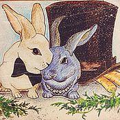 """Картины и панно ручной работы. Ярмарка Мастеров - ручная работа """"Любовь-морковь"""". Handmade."""