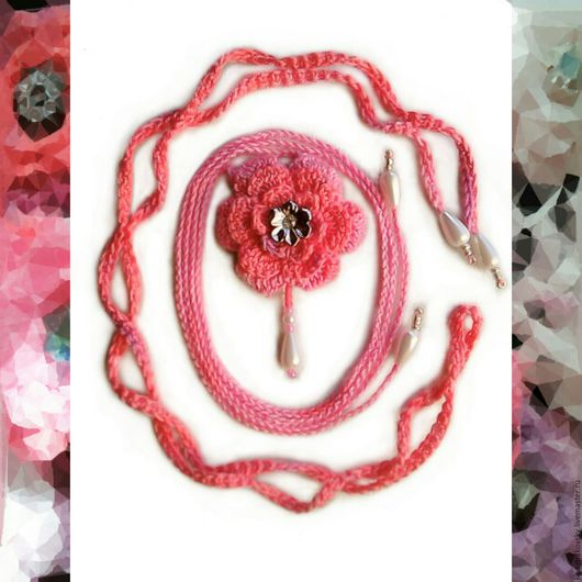 ЦВЕТОК И БРАСЛЕТ 6 miss_batik_ color 3705