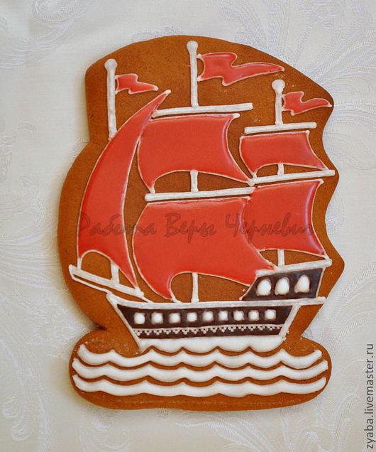 Кулинарные сувениры ручной работы. Ярмарка Мастеров - ручная работа. Купить Пряник Алые паруса - романтичный подарок любимому человеку. Handmade.