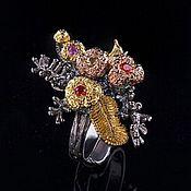 Украшения handmade. Livemaster - original item Ring with colored sapphires.. Handmade.