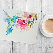 Картины и панно handmade. Livemaster - original item Spring bird - painting with watercolors. Handmade.