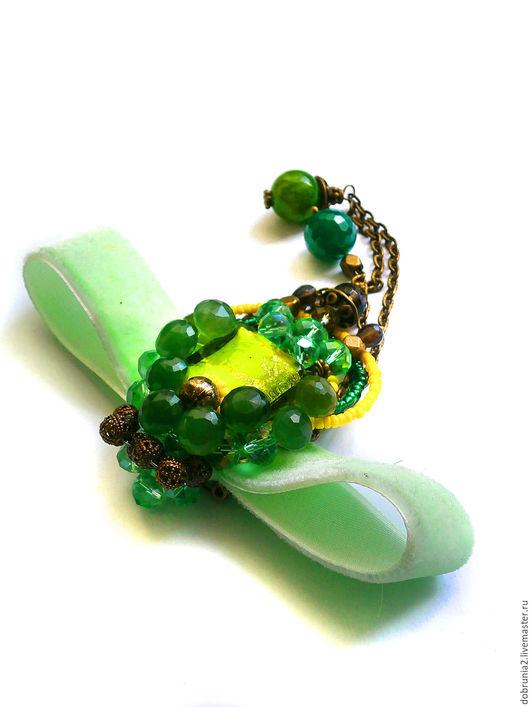 """Броши ручной работы. Ярмарка Мастеров - ручная работа. Купить Брошь """"Summer green"""". Handmade. Брошь, колье, подарок женщине"""