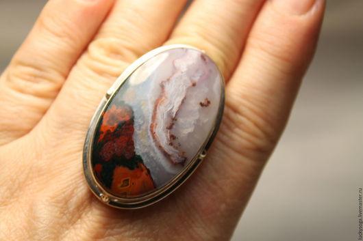 Кольца ручной работы. Ярмарка Мастеров - ручная работа. Купить кольцо из серебра ручной работы с агатом. Handmade.