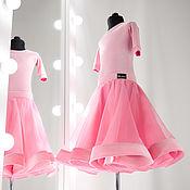 Платья ручной работы. Ярмарка Мастеров - ручная работа Silvia №1-02-02  Платье для бальных танцев (Рейтинговое платье). Handmade.