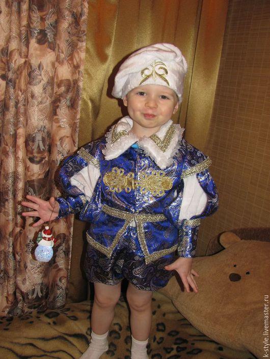 Детские карнавальные костюмы ручной работы. Ярмарка Мастеров - ручная работа. Купить Костюм принца. Handmade. Тёмно-синий, парча
