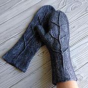 Аксессуары handmade. Livemaster - original item Mittens felted twig. Handmade.