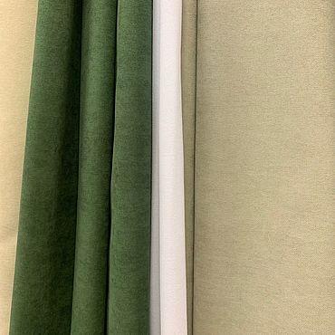 Текстиль ручной работы. Ярмарка Мастеров - ручная работа Шторы Однотонный. Handmade.