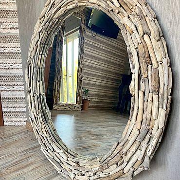 Для дома и интерьера ручной работы. Ярмарка Мастеров - ручная работа Зеркало в деревянной раме Дрифтвуд. Handmade.