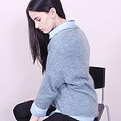 Одежда handmade. Livemaster - original item Jumper smoky-blue color. Handmade.