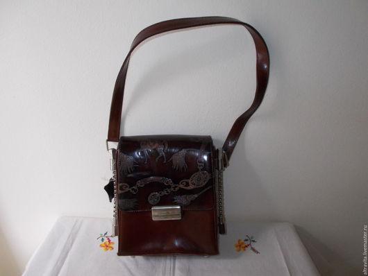 Винтажные сумки и кошельки. Ярмарка Мастеров - ручная работа. Купить Сумка женская  с декором  винтаж италия. Handmade. Комбинированный