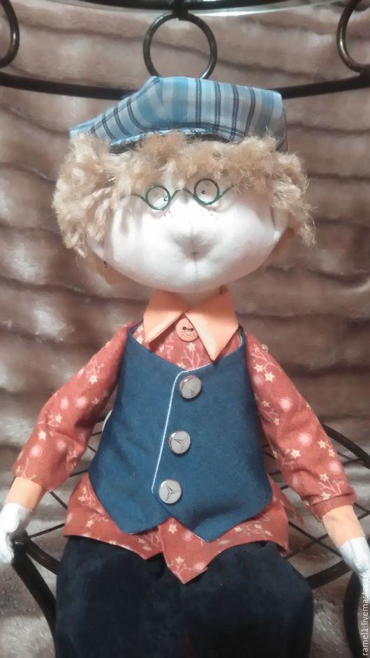 Коллекционные куклы ручной работы. Ярмарка Мастеров - ручная работа. Купить Гриша- текстильная интерьерная кукла. Handmade. Комбинированный