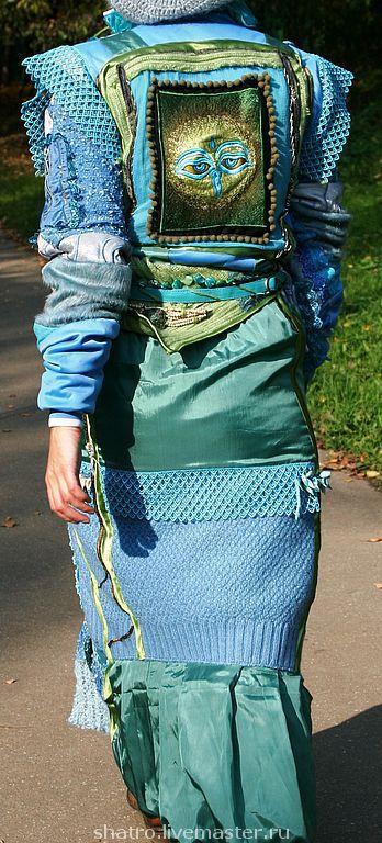 Верхняя одежда ручной работы. Ярмарка Мастеров - ручная работа. Купить пальто ГОЛУБОЕ. Handmade. Морская волна