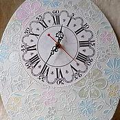 Для дома и интерьера ручной работы. Ярмарка Мастеров - ручная работа Часы большие Кружевные. Handmade.