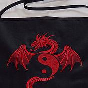 """Для дома и интерьера ручной работы. Ярмарка Мастеров - ручная работа Фартук: """"Красный дракон"""". Handmade."""
