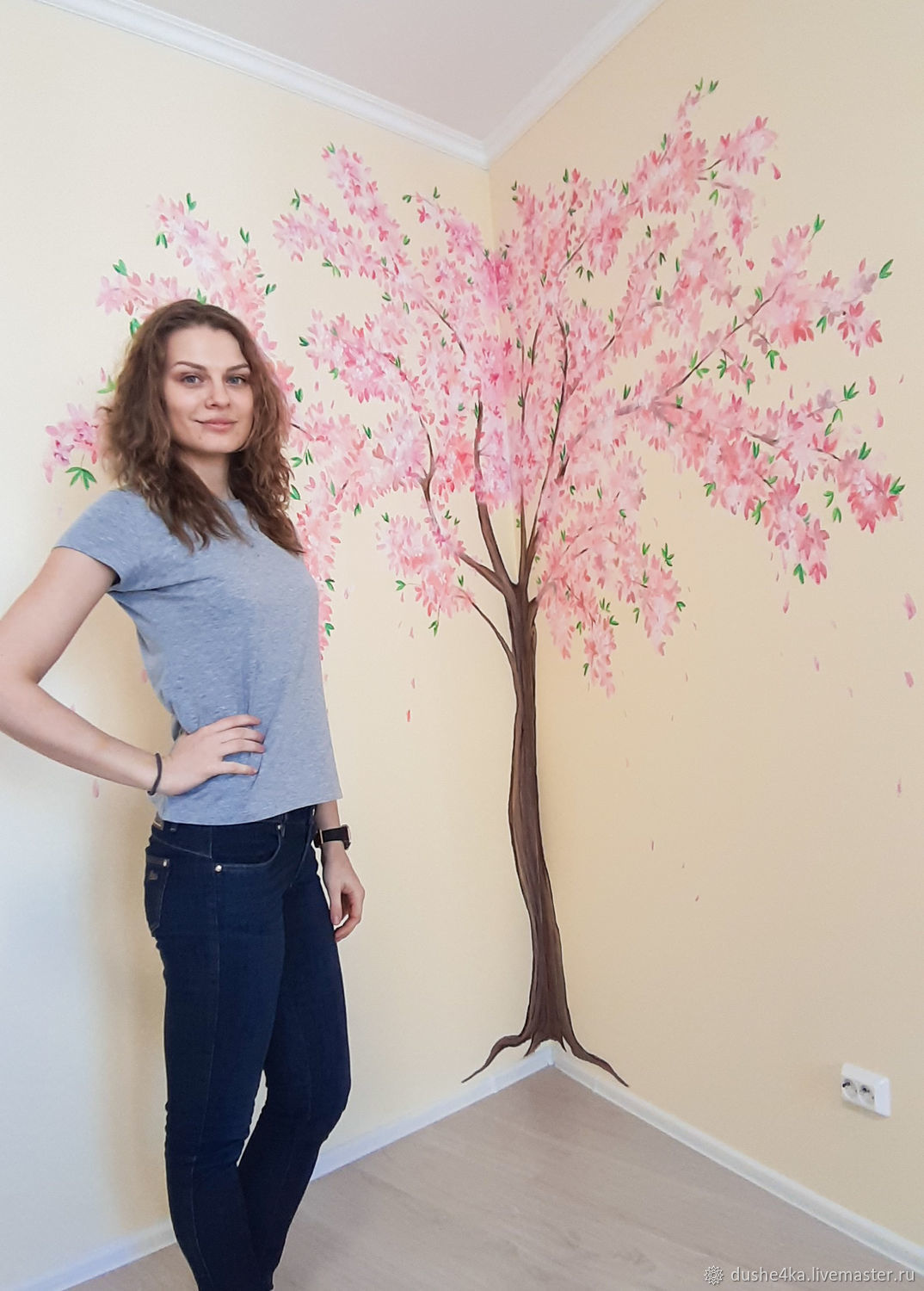 Wall Painting In The Room Flowering Tree Shop Online On Livemaster With Shipping Iiu23com St Petersburg