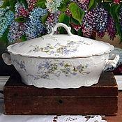Винтаж handmade. Livemaster - original item Baneblade with lid for hot service, smooth, porcelain, Kuznetsov. Handmade.