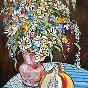 """Картины и панно ручной работы. Ярмарка Мастеров - ручная работа масло """"Дачный колорит"""". Handmade."""