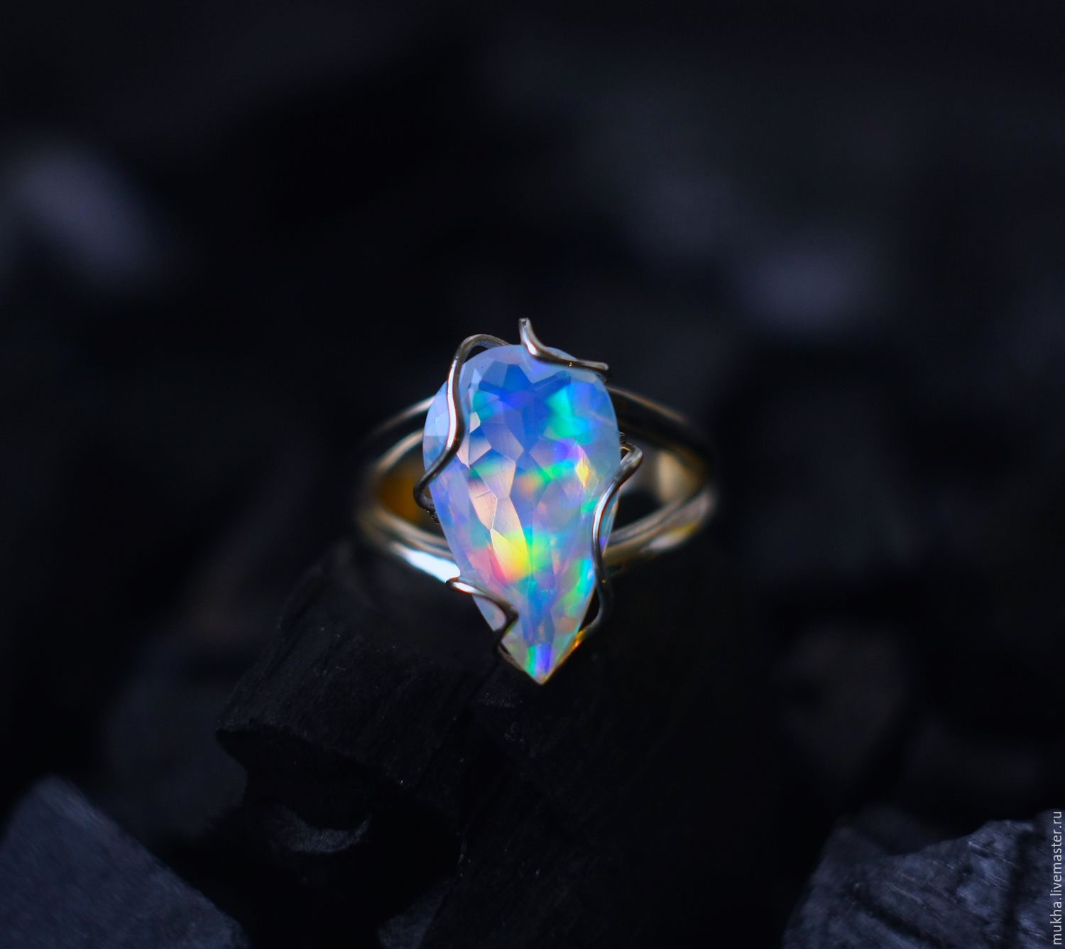 Ring 'Ice' with opal in white gold, Rings, Moscow,  Фото №1