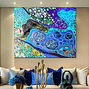 Картины и панно handmade. Livemaster - original item Bright interior painting abstraction Underwater world 2. Handmade.