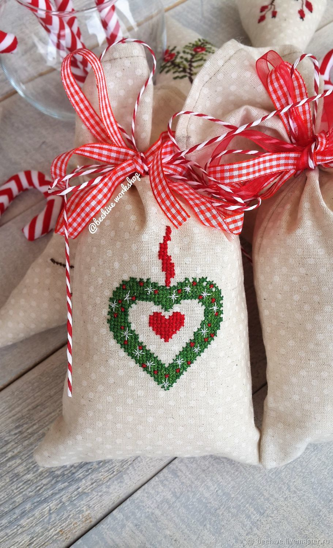 Мешочки для подарков новогодние подарки 80