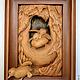 """Животные ручной работы. Ярмарка Мастеров - ручная работа. Купить Резное панно из массива кедра -""""первые шаги"""". Handmade."""