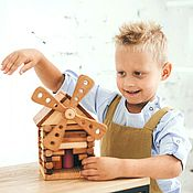 """Мини фигурки и статуэтки ручной работы. Ярмарка Мастеров - ручная работа """"Мельница""""деревянная игрушка для сюжетных игр. Handmade."""