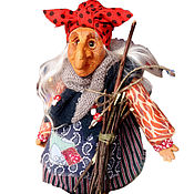 Мягкие игрушки ручной работы. Ярмарка Мастеров - ручная работа Баба Яга в ступе. Handmade.