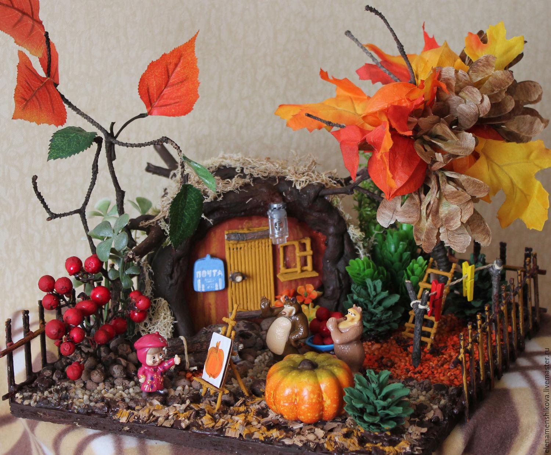 Осенние поделки для детского сада из природного материала 95
