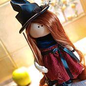 Куклы и игрушки handmade. Livemaster - original item Gift to a girl a witch Doll as a Halloween gift. Handmade.