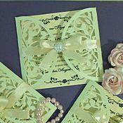 Пригласительные ручной работы. Ярмарка Мастеров - ручная работа свадебные приглашения. Handmade.