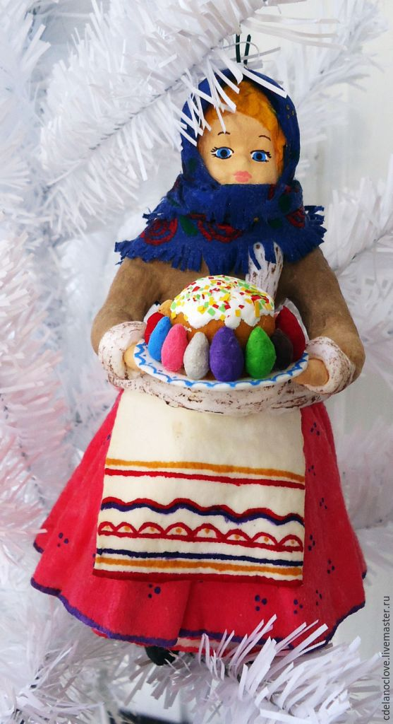 Buy quilted christmas tree decoration girl with cake on online easter gifts handmade order quilted christmas tree decoration girl with cake svoimirukamishop negle Gallery
