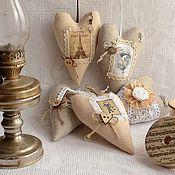 Куклы и игрушки ручной работы. Ярмарка Мастеров - ручная работа Сердечки ароматные текстильные. Handmade.