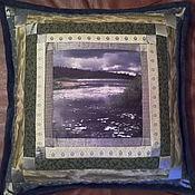 Для дома и интерьера ручной работы. Ярмарка Мастеров - ручная работа Лоскутная подушка с фотографией. Handmade.