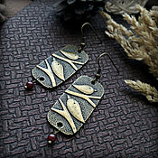 Украшения handmade. Livemaster - original item Bird earrings with natural garnet.. Handmade.