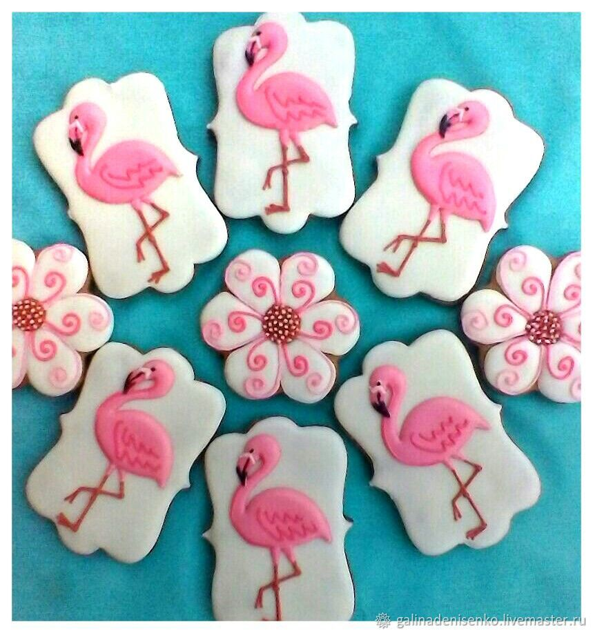 Gingerbread Flamingo. Gingerbread Birthday, Gingerbread Cookies Set, Rostov-on-Don,  Фото №1